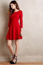 NWT (with flaws) Anthropologie Crosstown Dress by Sunday in Brooklyn Red Size L