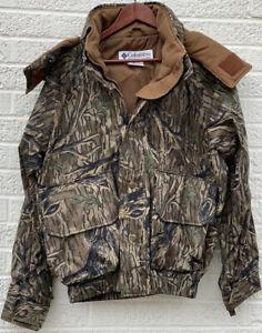 Vintage Columbia Omni-Tech Duck Hunting Jacket Mossy Oak Mens Small mint