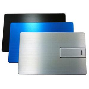 Metal Credit Card USB Stick Silver USB Flash Drive 2.0 Metal Silver Money Card