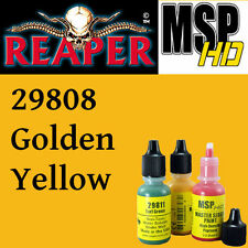 GOLDEN YELLOW 29808 -MSP HD 15ml 1/2oz paint pot peinture REAPER MINIATURE jaune