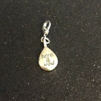 Brighton HERE & NOW Eternity Silver Lobster Clasp Saying Charm