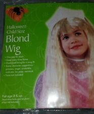 Halloween Child Size Blonde Wig Straight Hair New Ages 3+ New Old Stock