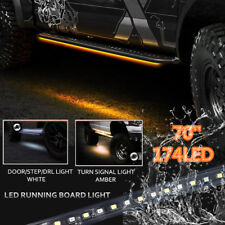 "70"" Running Board/ Side Step LED Light For Chevy Dodge GMC Ford Trucks Crew Cab"