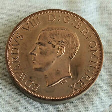 EDWARD VIII 1937 NEW ZEALAND COPPER PIEDFORT PROOF PATTERN FLORIN - mintage 18