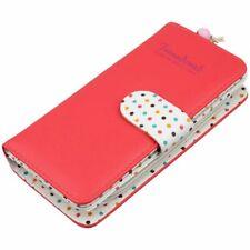 65e594909 Cartera Monedero Billetera PU para Mujer Moda Color Rojo B6U5