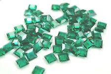 72 Swarovski 8mm Emerald Flatback Channel Square Stones #4402/2  V4845