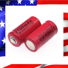 Pile ACCU Batterie Rechargeable Cr123A li-ion 16340 3.7V 2700mAh  CIGARETTE LED