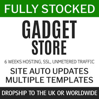 Dropship Gadgets UK + World | Fully Stocked eCommerce Store Website 6w service
