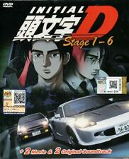 Anime DVD Initial D Stage 1-6 + 2 Movie + 2 OST English Subtitle