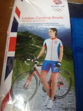 LADIES' TEAM GB CYCLING SHORTS LARGE  8-10 OLYMPICS