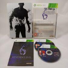 Resident Evil 6 XBOX 360 Steel Book Edition et housse avec manuel