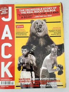 JACK Mens Magazine - December 2002 - Rare Vintage Issue  - Rocky Balboa
