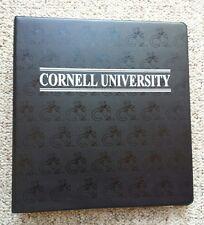 Vintage Cornell University Three Ring Hard Binder New York Education Big Red