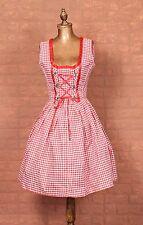 Vintage Dirndl Dress Trachten German Corset Victorian Steampunk Costume UK 8