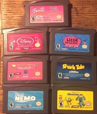 BARBIE/HELLO KITTY/MONSTER INC/SHARK TALE/NEMO/DISNEY PRINCESS/LIZZIE LOT GBA