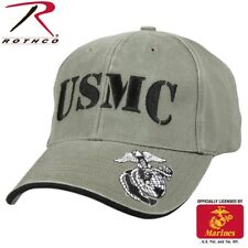 Rothco 9738 Deluxe Vintage USMC Embroidered Low Pro Cap - Olive Drab