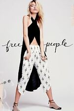 NWT FREE PEOPLE WOMEN SzS DIAMOND PRINT HAREM PANT TEA COMBO $78.
