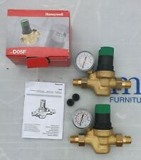 2 x Honeywell Pressure reducing Valves Complete With Unions And Gauges