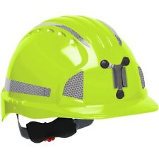 JSP Mining Hard Hat Cap Style with 6 Point Ratchet Suspension, Lime Green