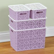 New ListingLace Design Storage Baskets - Set of 4 in Purple