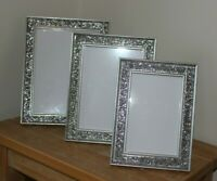 SPARKLE CRUSHED CRYSTAL GLITTER DIAMANTE PHOTO FRAME ,CHOICE OF 3 SIZES