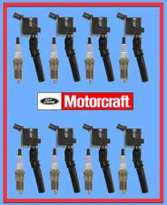 Set (8) FORD Spark Plugs & Coils Motorcraft SP479 OEM# AGSF22WM DG508 5.4 V8