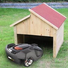 Holzgarage Mähroboter Garagen Dach Rot Carport Garagen Rasenmäher Überdachung