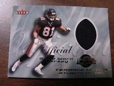 2000 Fleer Feel The Game Terance Mathis Jersey Card (B38) Atlanta Falcons