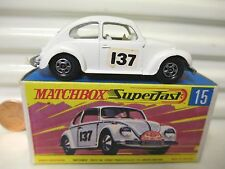 LESNEY MATCHBOX MB15A White VW VOLKSWAGEN 1500 SALOON Bumper Decal Mint Boxed*