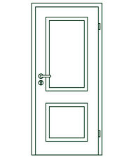 Stiltür Typ PROVENCE, Weißlack, 860x1985mm, RE
