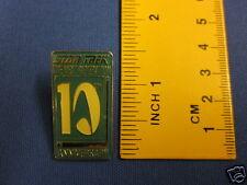 Star Trek Next Generation 10th Anniversary Blue Pin Badge 10Y3