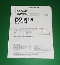 Original Pioneer DV-515 / DV-414 Service Manual