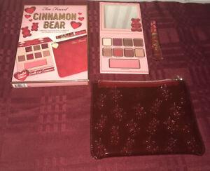 Too Faced Cinnamon Bear Makeup Set Palette, Liquid Lipstick, Makeup Bag 2020 NIB