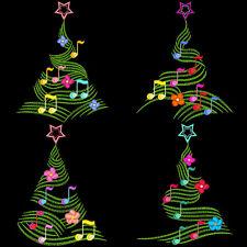 MUSICAL CHRISTMAS TREES - 30 MACHINE EMBROIDERY DESIGNS (AZEB)