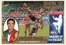 Select 2005 Tradition MATTHEW PAVLICH Dockers Mark of the Year card