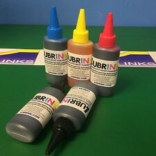 5 Printer Refill Lubr INK Bottles Canon Pixma ip4850 ip4950 MG5150 MG5250 MG5350