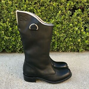 G STAR RAW Patton Asper Hi Women's Leather Boots GS41580 Black UK Size 7