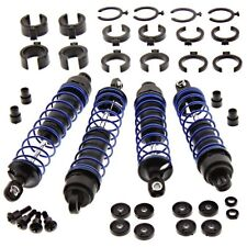 TRAXXAS 1/10 STAMPEDE 2WD OR 4WD FRONT & REAR SHOCKS WITH BLUE SPRINGS