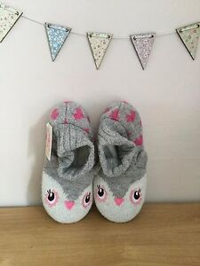 Beautiful Knitted Owl Slipper Boots - Accessorize / Monsoon - BNWT