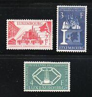 Luxembourg 1956 MNH Mi 552-554 Sc 315-317 European Coal & Steel Community XF**