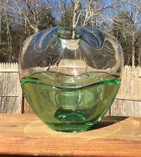 Tiffin Empress Art Glass Emerald Green Crystal Rose Bowl #6606