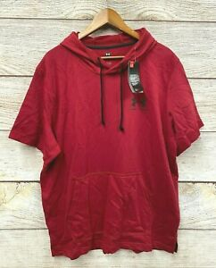 Under Armour Hoodie Mens Size 2XL Deep Red Loose Fit Pullover Knit Hoodie New
