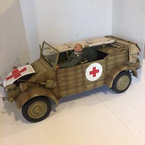 Dragon WWII 1/6 Kubelwagen Type 82 Tan Ambulance w/Stretcher & Bonus Figure