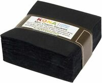 "Kona Solids Black Mini Charm Pack by Robert Kaufman 84 2.5"" Precut Quilt Squares"