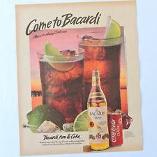 BACARDI / Advert Publicidad Publicite Pubblicita Reklame Spirit Coca-Cola Coke