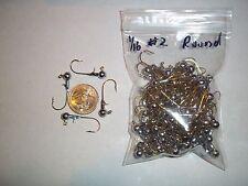 1/16oz #2 ROUND LEAD HEAD EAGLE CLAW - GOLD 100ct