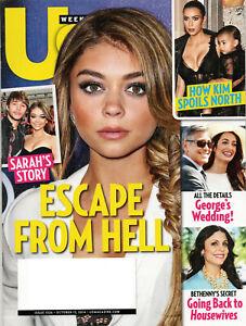 US WEEKLY Magazine October 13 2014 Sarah Hyland Kim Kardashian George Clooney
