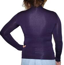 Women Seamless Stretch Long Sleeve Mock Neck Turtleneck Blouse Top one size $$