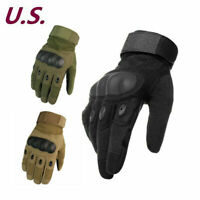 Details about  /Leather Tactical Hunting Full Finger Gloves Combat Shooting Military Army Warm