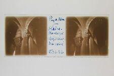 Glaine-Montaigut Église Saint-Jean Puy-de-Dôme Auvergne Plaque stéréo 1932